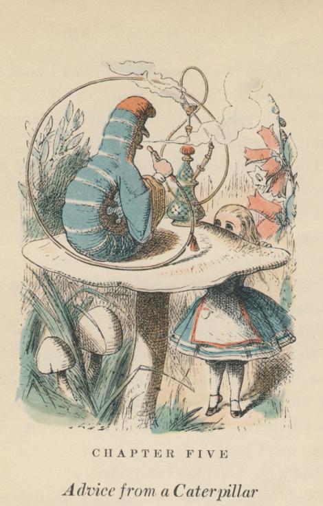 John Tenniel's Illustration of the Blue Caterpillar