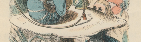 John Tenniel's Illustration of the Blue Caterpillar