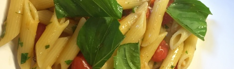 Pasta with fish cooked in a shellfish stock