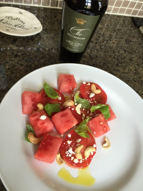 Watermelon and Heirloom Tomato Salad