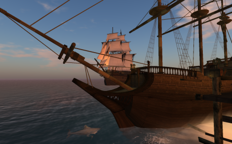 Tall Ships in Second Life