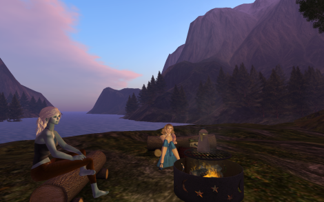 Coffee at the Campfire in Second Life