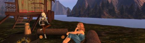 Gypsy camp on the new island